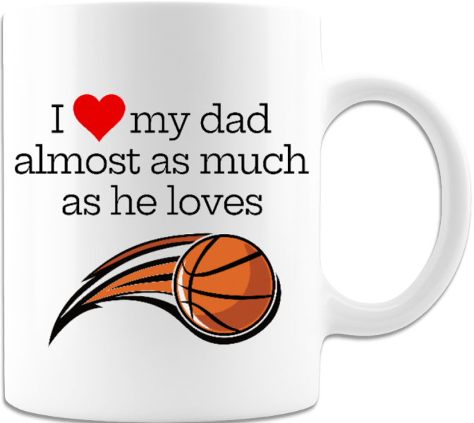 Basketball Fanatic Father's Day Funny Gift Coffee Mug