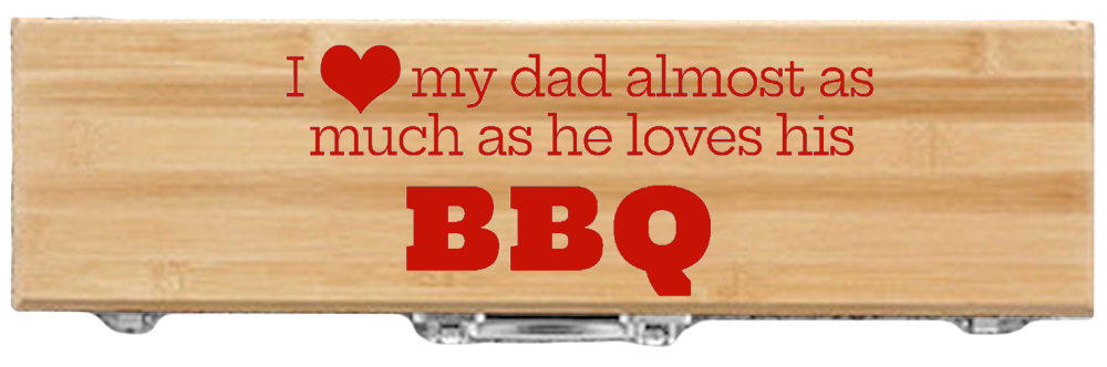 Customized Father's Day BBQ 3-Piece Tool Set for Barbecue Master Dads-Bamboo crop thanksthoughs.com