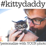 Customized Kitty Daddy Father's Day Photo Personalized Coffee Mug Thanks Amazon bestseller