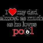 Funny Play Pool Shark Father's Day Gift Coffee Mug love Dad like billiards