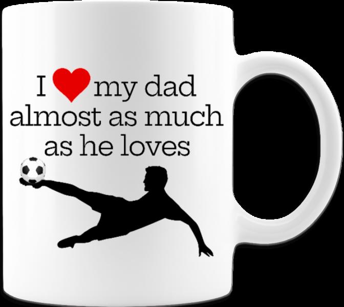 Football/Soccer Fanatic Father's Day Funny Gift Coffee Mug